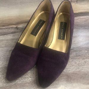 Purple suede heels